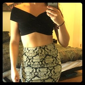Black Bandage Crop Top from Akira Chicago